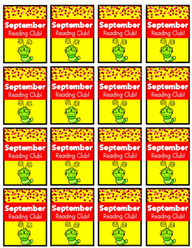 September Reading Log and Brag Tags