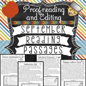 September Reading Passages: Proofreading and Editing