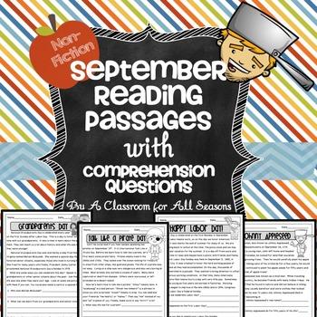 September Reading Comprehension Passages