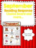 September Reading Response Choice Board