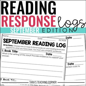 September Reading Response Logs (Grade 3)