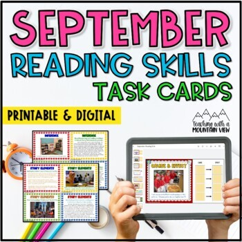 September Reading Skills and Enrichment Task Cards *Aligned to Common Core*