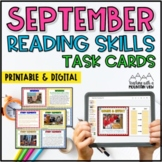 September Reading Skills and Enrichment Task Cards *Aligne