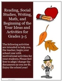 September Reading, Writing, Math, and Social Studies Activities