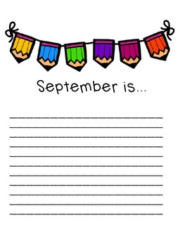 September Reading and Writing Lesson