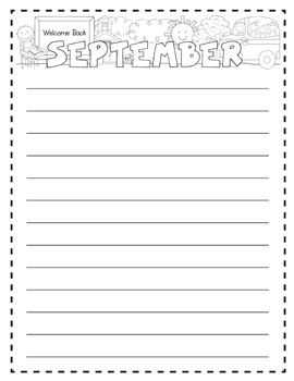 September Reflection Journal {Writing Activity}