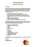 September Roald Dahl Study Parent Letter