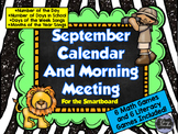 September SMARTboard Morning Meeting and Much More! (Software older than 17.0)