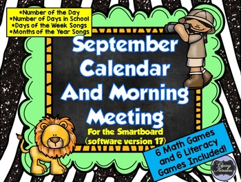 September SMARTboard Morning Meeting and Much More! (Software 17.0 and newer)