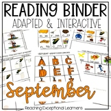 September SPED Adapted Reading Binder