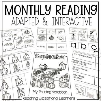 September SPED Adapted Reading Binder