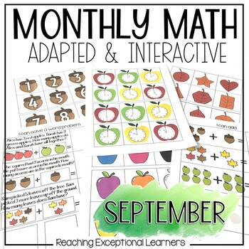 September SPED Math Adapted Workbook