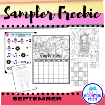 September Sampler Freebie