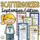 September Scattergories Games