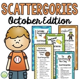 October Scattergories Games