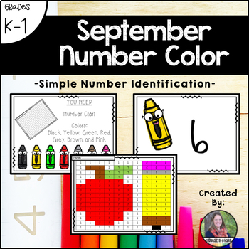 September School Number Color (Number Recognition and Identification)