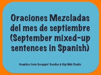 September Scrambled Sentences in Spanish