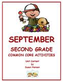 Second Grade September Activities