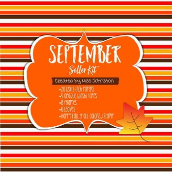 September Seller Kit {Clipart, Papers, Frames, Washi}