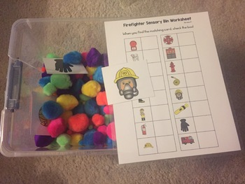 September Sensory Bins for Special Education