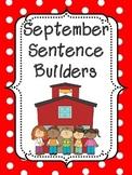 September Sentence Builders