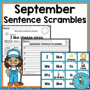 September Sentence Scrambles