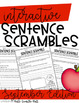 September Sentence Scrambles {Interactive}