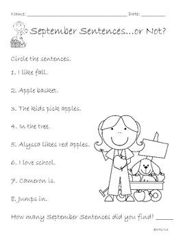 September Sentences