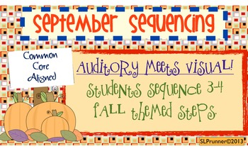 September Sequencing -- Common Core Aligned