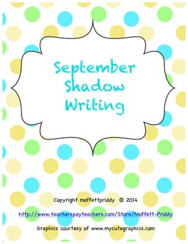 September Shadow Writing