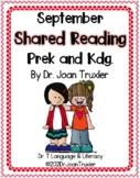 September Shared Reading PreK and Kdg. (Distance Learning)