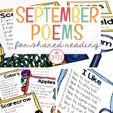 September Shared Reading (Sight Word Poems)
