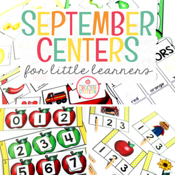 SEPTEMBER LITERACY CENTERS AND MATH CENTERS