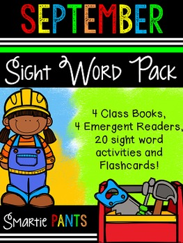 Sight Word Activity Pack - September