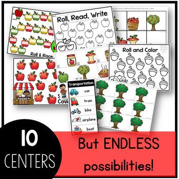 September Sight Word Centers Editable