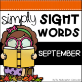 September Sight Word Games and Centers - Editable