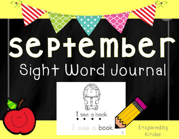 September Sight Word Journal-Print and Go!