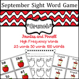 September Sight Word game - Fountas and Pinnell High Frequency Word