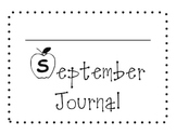 September Sight Word of the Day Journal