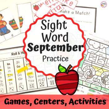 September Sight Word Activities