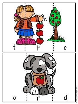 First Grade Sight Word Activities- September