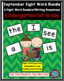 September Sight Words Bundle: 6 Autumn Emergent Readers/Writing Response Sheets