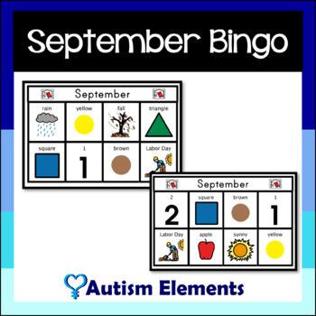 September Simple Bingo