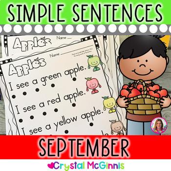September Themed (Simple Predictable Sentences for Beginning Readers)