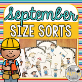September Size Sorts - CCSS Aligned for Kindergarten