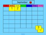 September Smart Board Calendar Math for Kindergarten