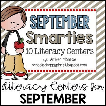 September Smarties {10 Literacy Centers}