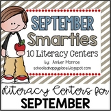 September Smarties {10 Literacy Centers}