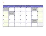 September Snack Calendar