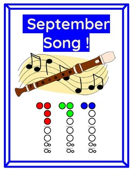 September Song for Recorder and Piano